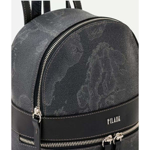 Geo Black backpack with logo LG100216