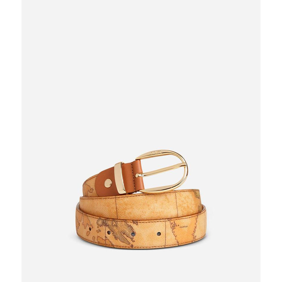 Geo Classic Belt with leather inserts brown CN100101
