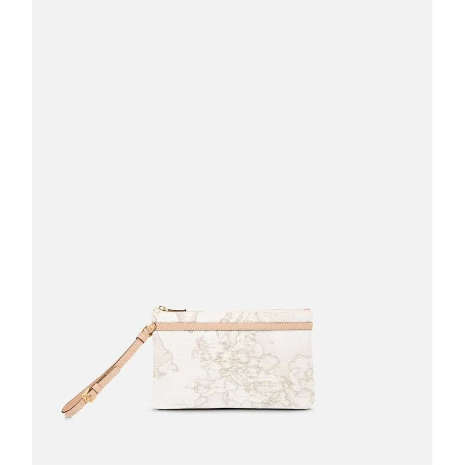 Geo White Medium wristlet clutch CN100147