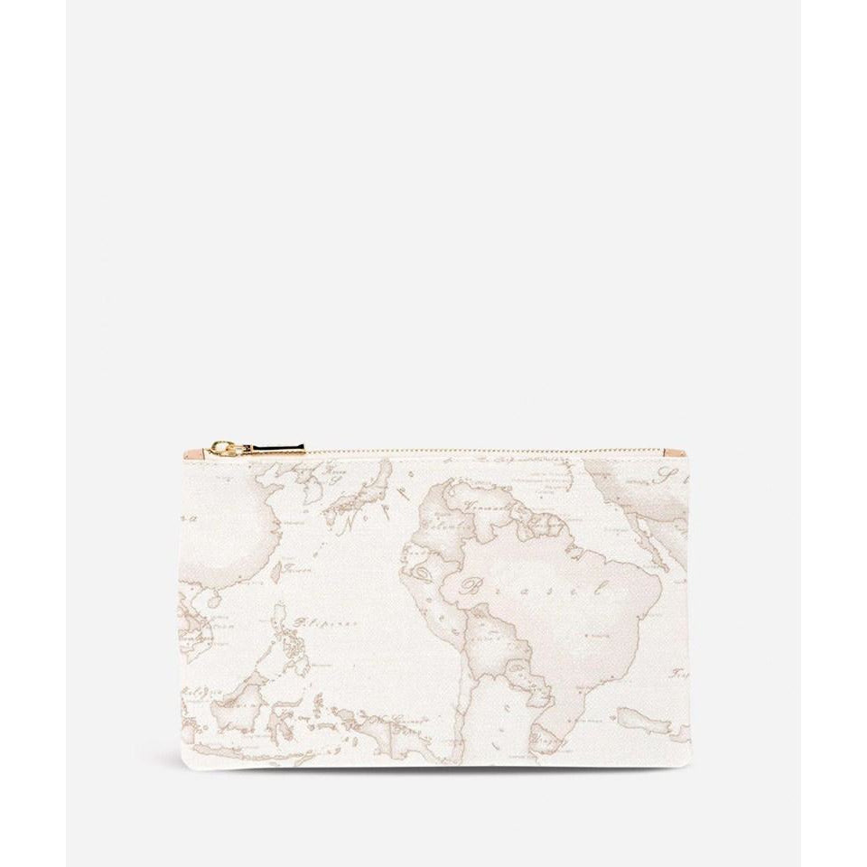 Geo White Envelope Clutch Bag