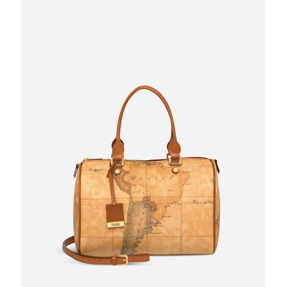 Geo Classic Medium Boston bag brown