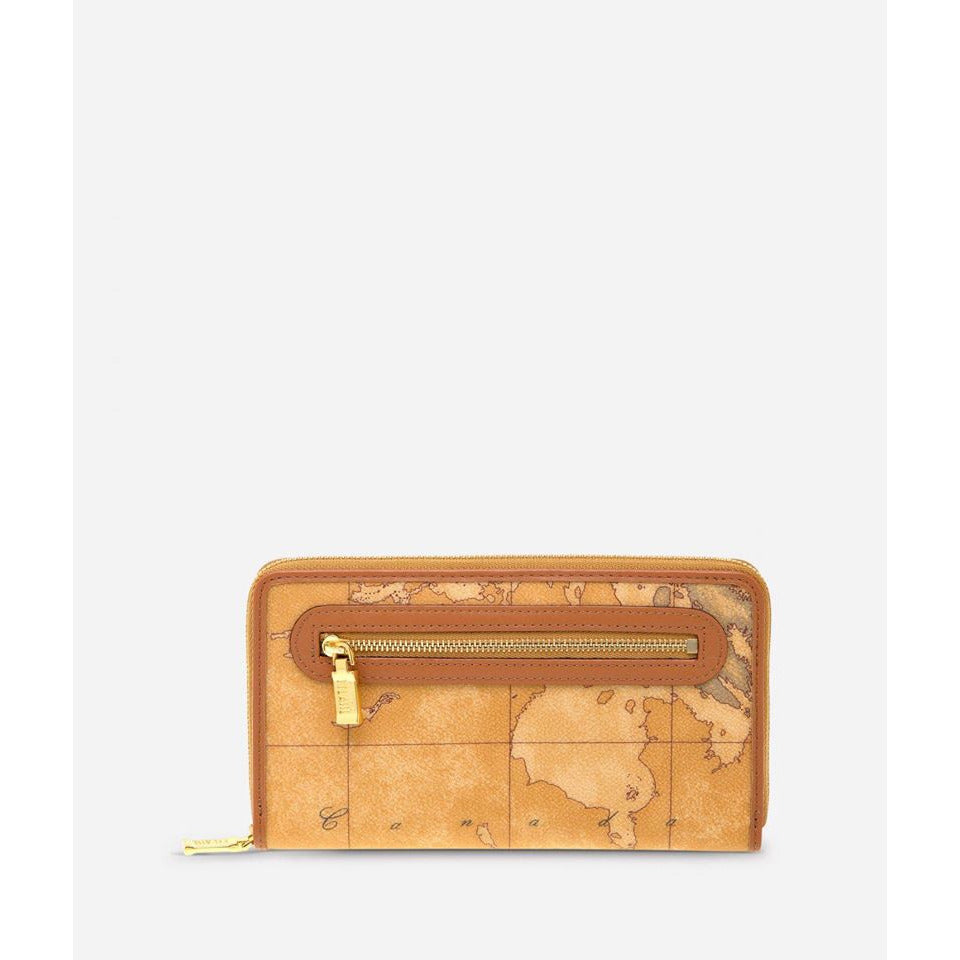 Geo Classic Large wallet with zip pocket brown CN100113