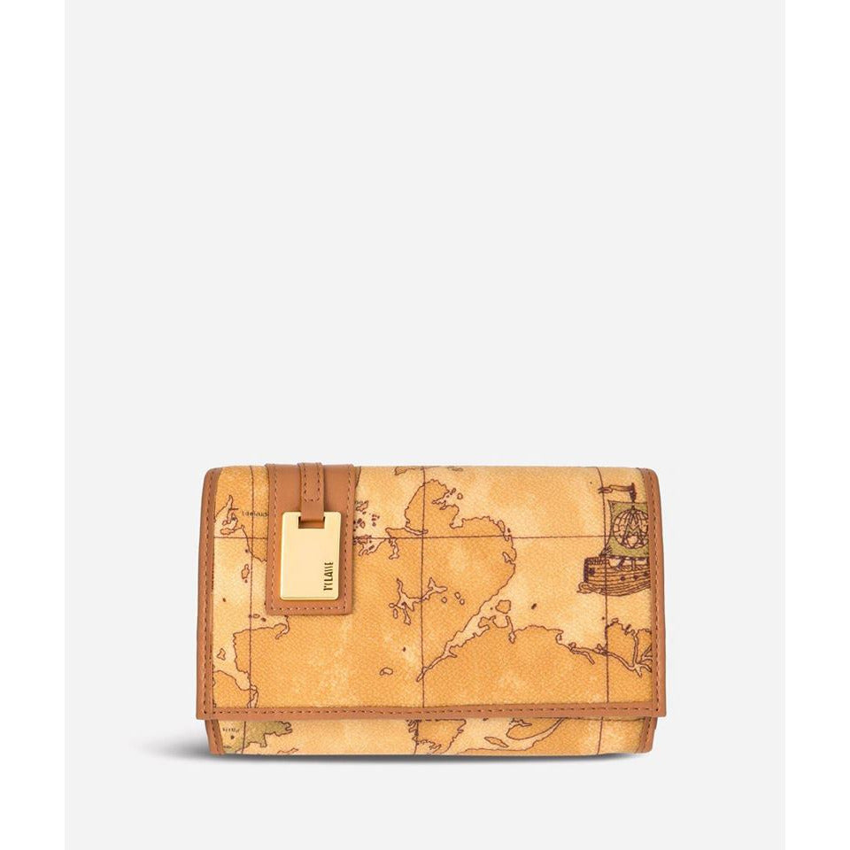 Geo Classic Medium wallet with pocket brown CN100123