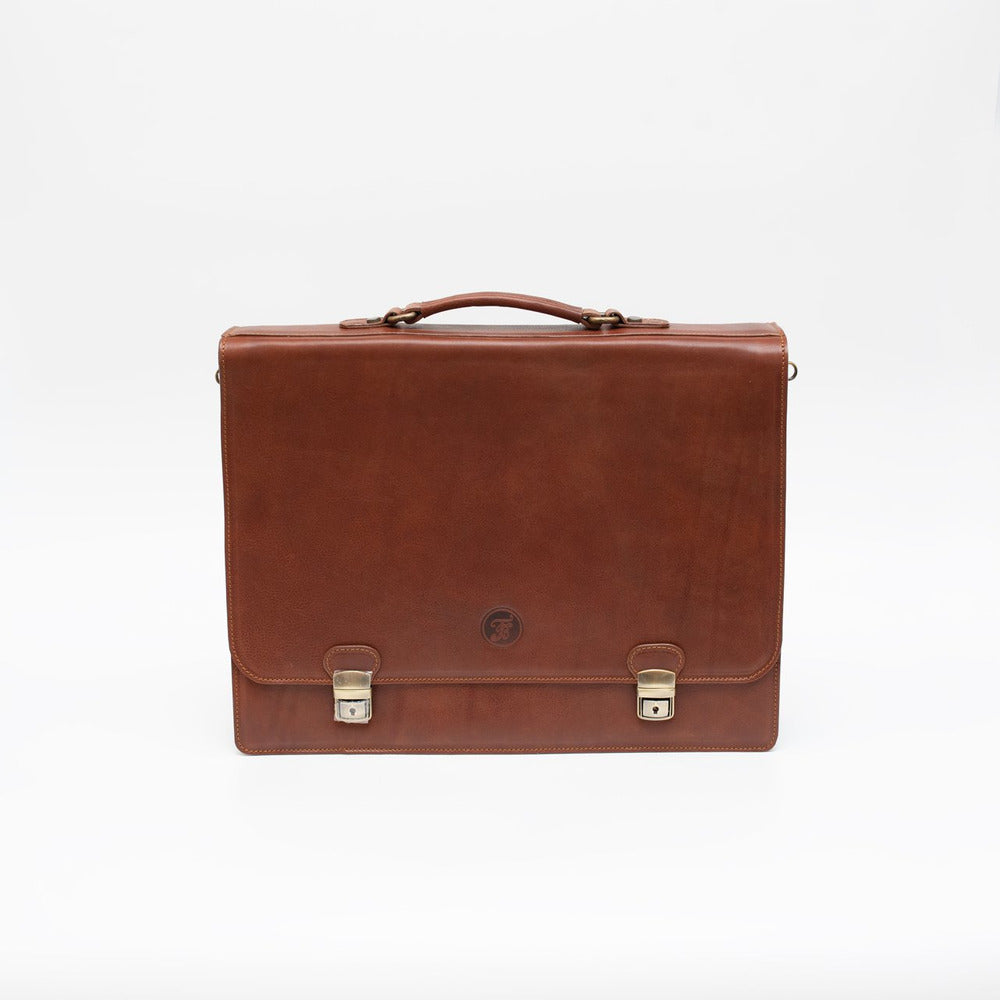 Leather bussiness bag brown