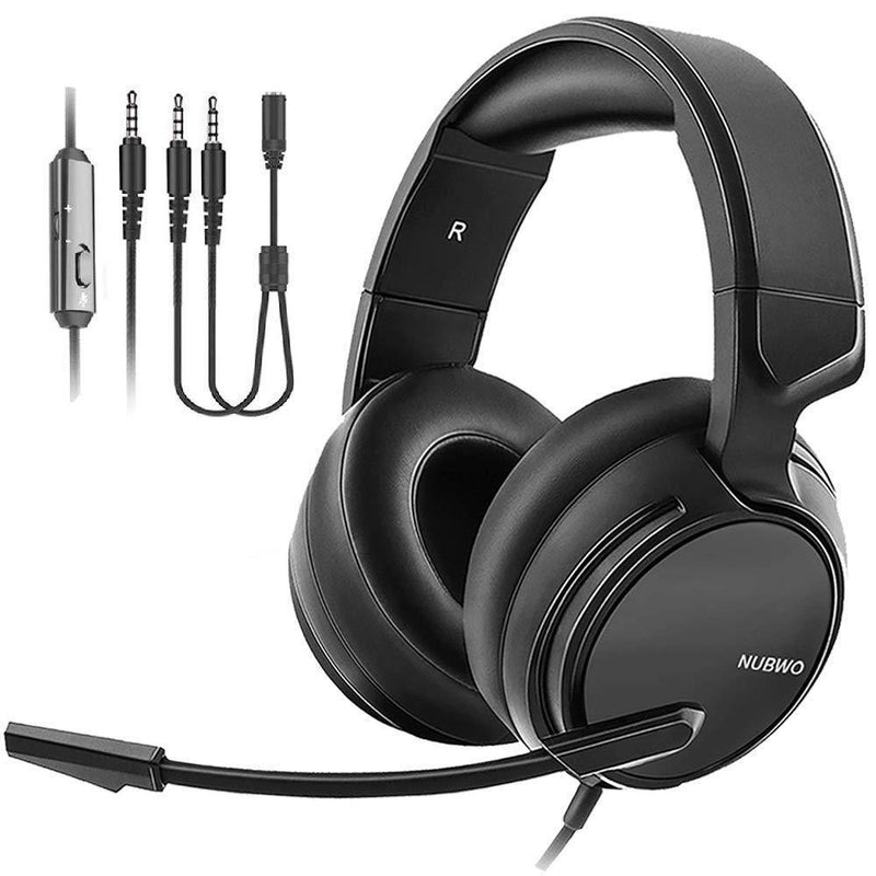 NUBWO Stereo Gaming Headphones Mic for PC,Laptop, PS3, Video Game with Flexible Microphone- Model: N15 (Black)