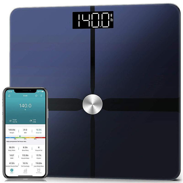 1byone CF388BLE Bluetooth Smart Weight Scale with App Control Most Accurate ITO Technology, BMI,14 Measurements 180kg