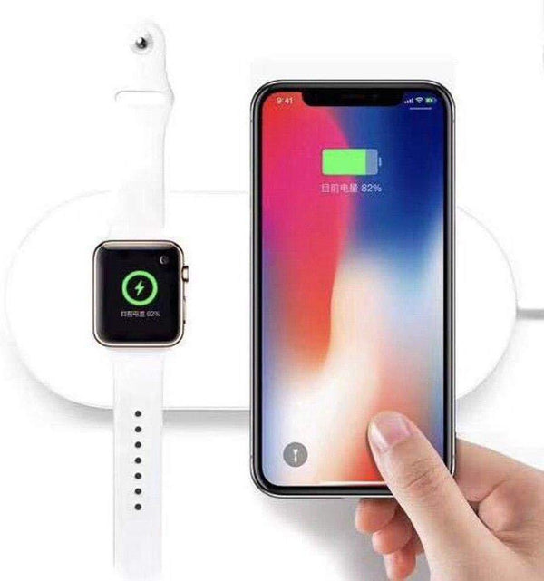 2 in 1 Mini Airpower Wireless Fast Charger For Apple Watch & iPhone X