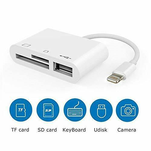 3 in 1 SD-TF Card Reader Adapter Female OTG Adapter Cable (White)