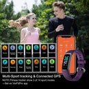 TEMINICE HRM Fitness Trackers , Activity Trackers - Health Exercise Watch with Heart Rate and Sleep Monitor - Smart Band Calorie Counter - Step Counter - Pedometer - IP68 Waterproof (Updated 2020 Version) - Model: ID152 - (Black/Purple)