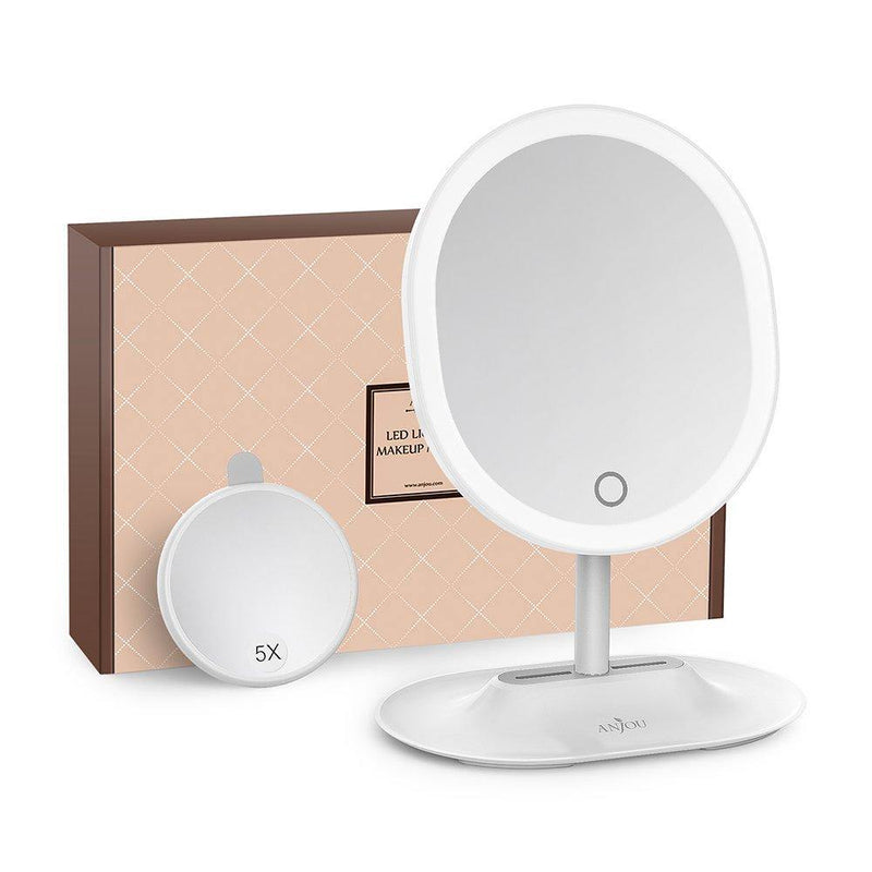 Anjou Mirror Rechargeable LED Lighted (Grey)