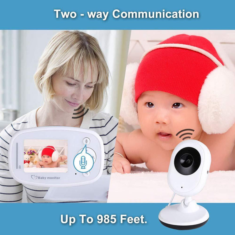 Video Baby Monitor Home Security Camera 2.4 Inch LCD-(White) - DealsnLots