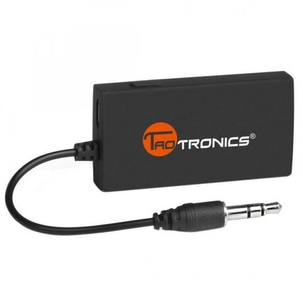 TaoTronics Wireless Portable Bluetooth Transmitter Connected to 3.5mm Audio Devices