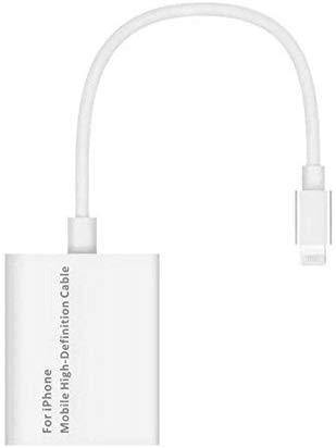 8 Pin Lightning to HDMI Converter 1080P Lightning to HDMI Adapter Cable for iPhone (White)