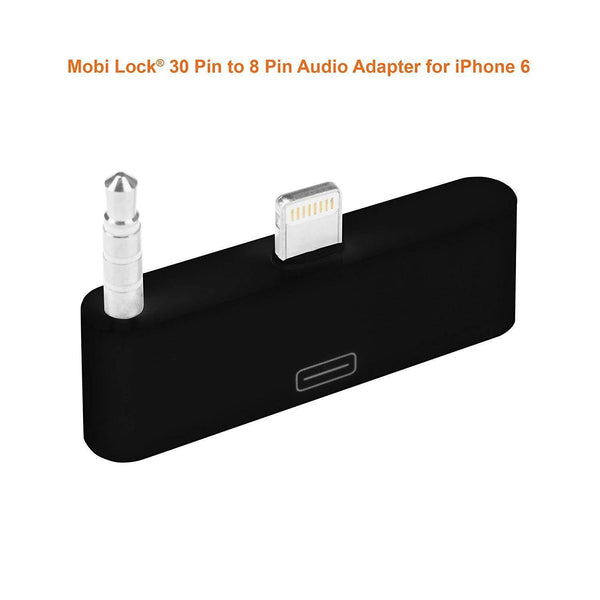 8-Pin to 30-Pin Adapter Converter Audio Dock for iPhone 6 Plus (Black)