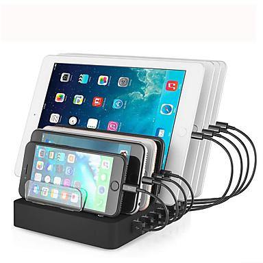 8 Ports USB Desk Charging Station - Model:LMH-PW006 - (Black) - DealsnLots
