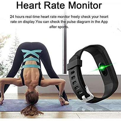 ANCwear Fitness Tracker - Heart Rate Monitor - Sleep Monitor - Calorie Step Counter - Waterproof Smart Band - (Black/Blue/Purple)