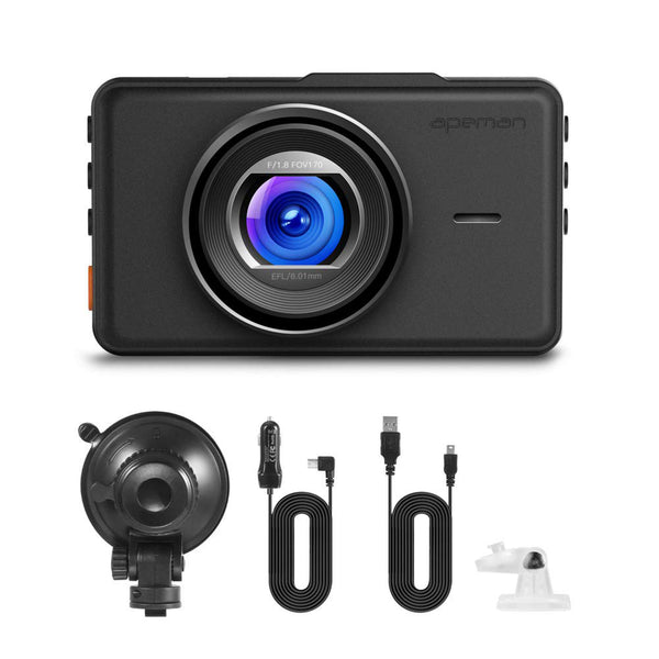 APEMAN Dash Cam 1080P FHD Model:C450 (Black)