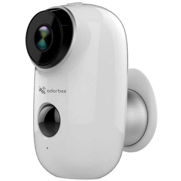 Adorbee A3 720P 6000mA Outdoor Wireless Security Camera White