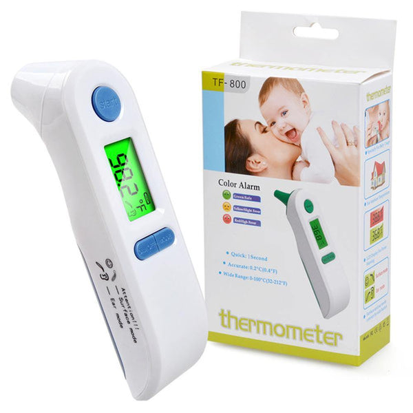 AnnSky TF-800 Portable Baby Thermometer Digital LCD Forehead Ear Infrared Detector Dual Mode - DealsnLots