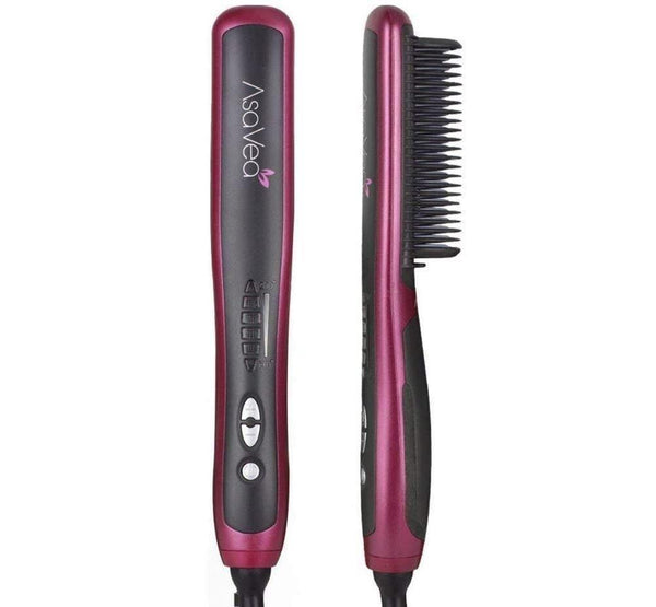 Asavea Hair Straightener Straightening Brush 33W (Black) - DealsnLots