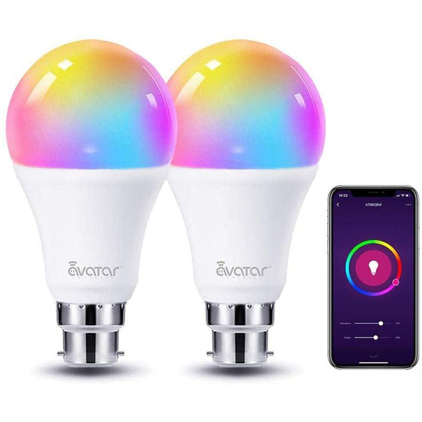 Avatar 8W  Type-B22 Wifi Smart Bulb (Updated 3000-6200K, 2 Pack)