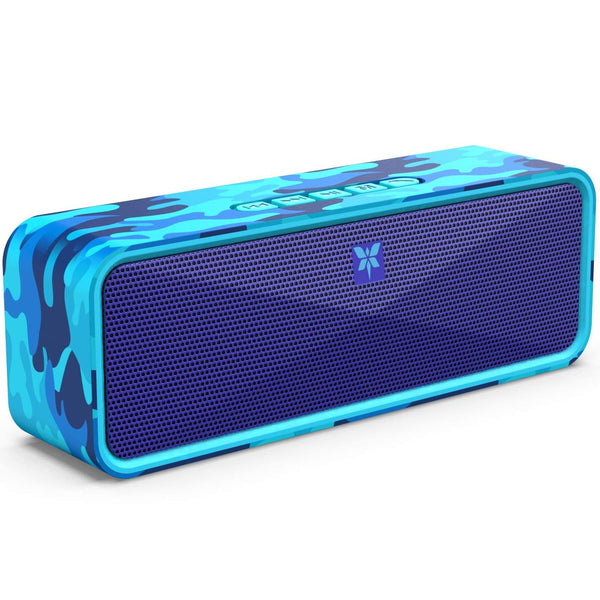 Axloie Portable Wireless Bluetooth Speaker with Mic Extra Bass Dual Speakers 5w 1800MAH- Model: Bang Speaker (Mixed Blue)