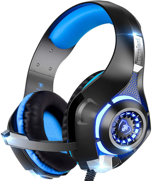 Beexcellent Wired Gaming Surround Sound Headset with Microphone for New Xbox 1, PS4, PC, Cellphone, Laptops, Computer-Model:GM-1-(Blue)