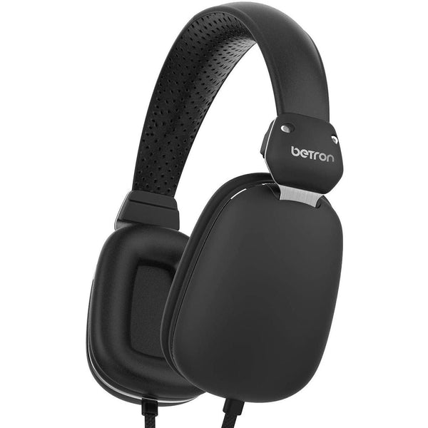 Betron On Ear Wired Headphones, Bass Driven Sound Model: HD500 (Black)