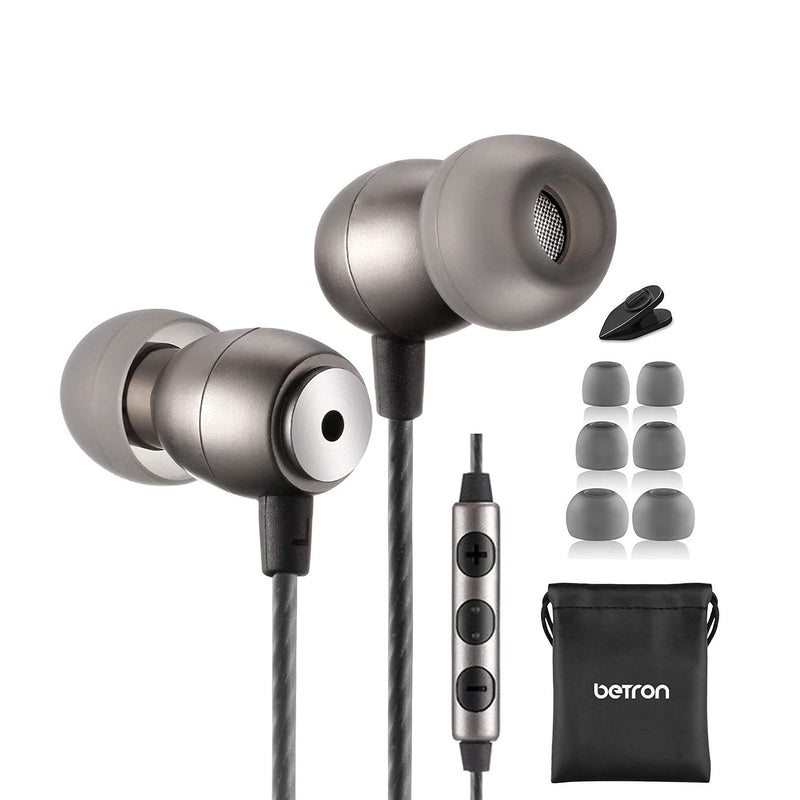 Betron Wired Earphone with Mic and Volume Control-Model: GLD100RM-(Grey)