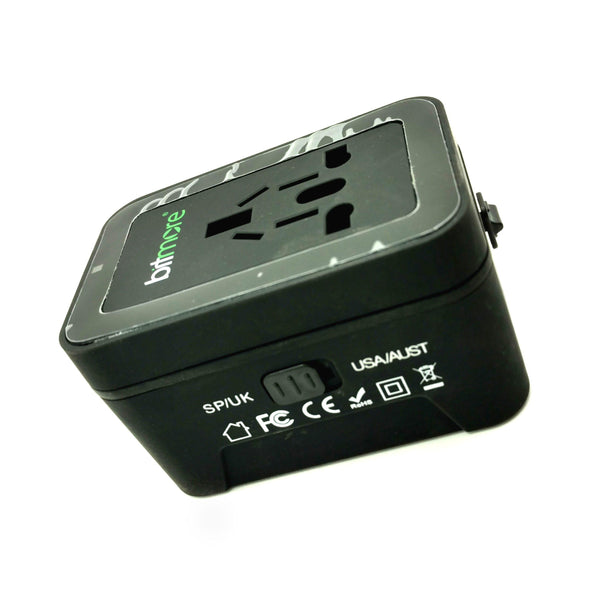Bitmore Worldwide Travel Adapter - (BM-UTA1) - (Black)