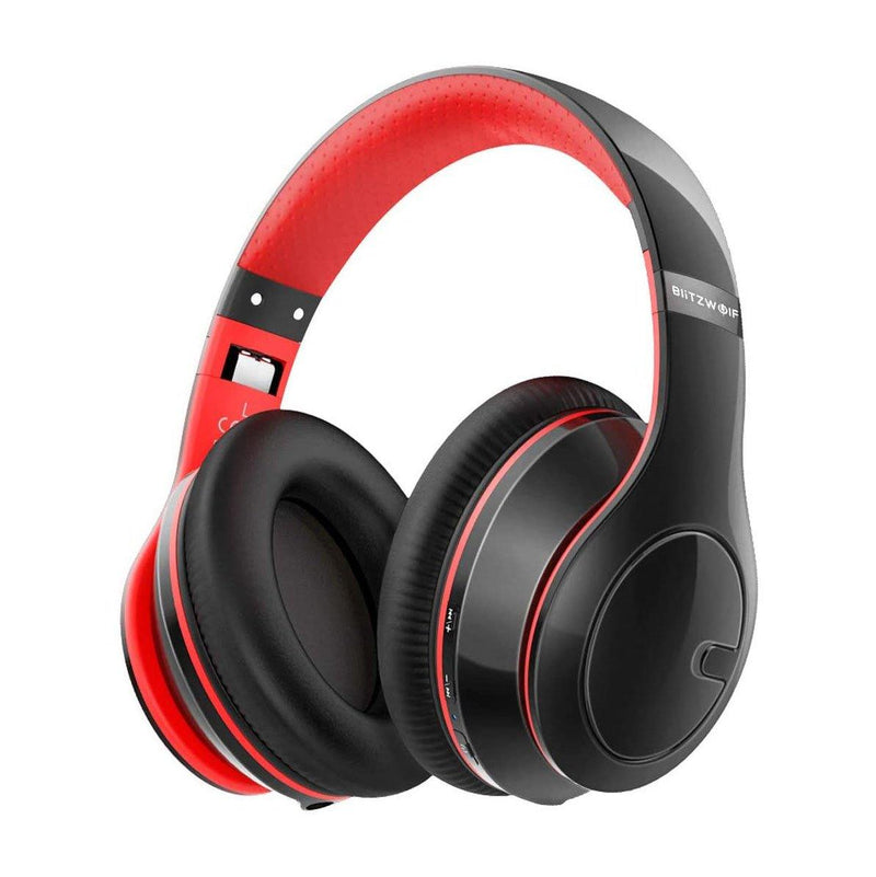 BlitzWolf Wireless bluetooth Over Ear Headphones-Model:BW-HP1-(Red/Black)