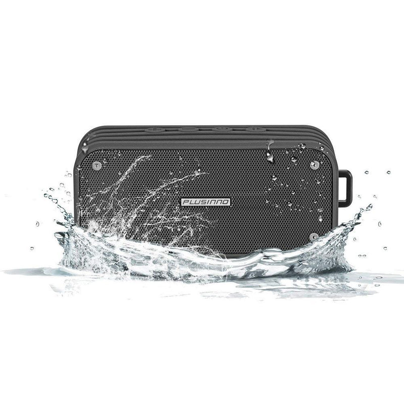 PLUSSINNO Bluetooth Speakers 4.0 with Siri-Google Now Intergrated, Aux-out, Built-in Mic Handsfree Call, Waterproof with Super Bass