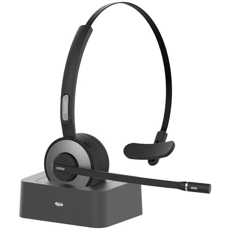 YAMAY Wireless Headset with Microphone (Noise Cancelling Mic) Model: M98 (Black)