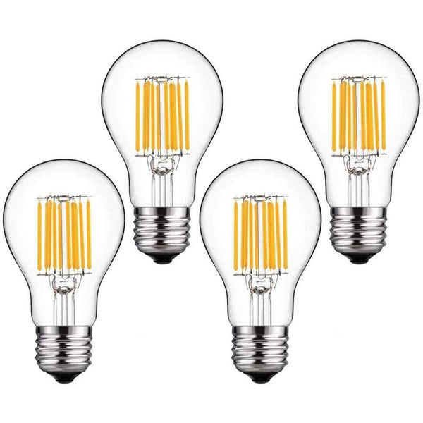 Bonlux 10W E27 4000K LED Classic Filament Bulb Natural White (LST0696-NW)4-Pack - DealsnLots