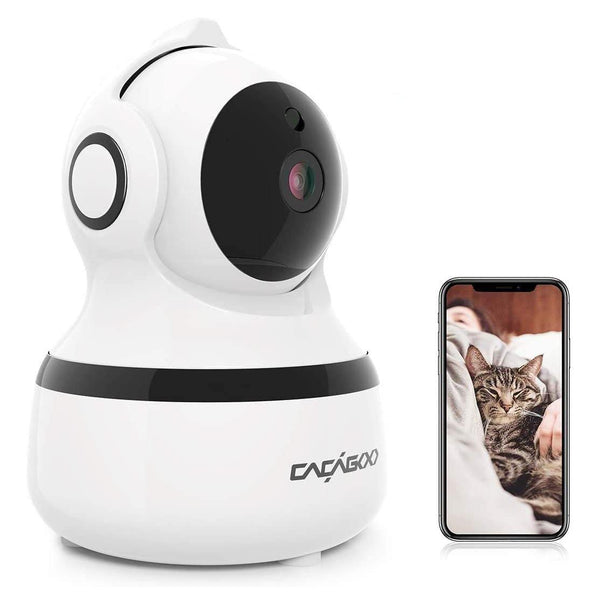 CACAGOO Wireless IP Camera & Video Baby Monitor with IR Night Vision/Two-Way Audio - Model: XY-R9820-F4 - (White)