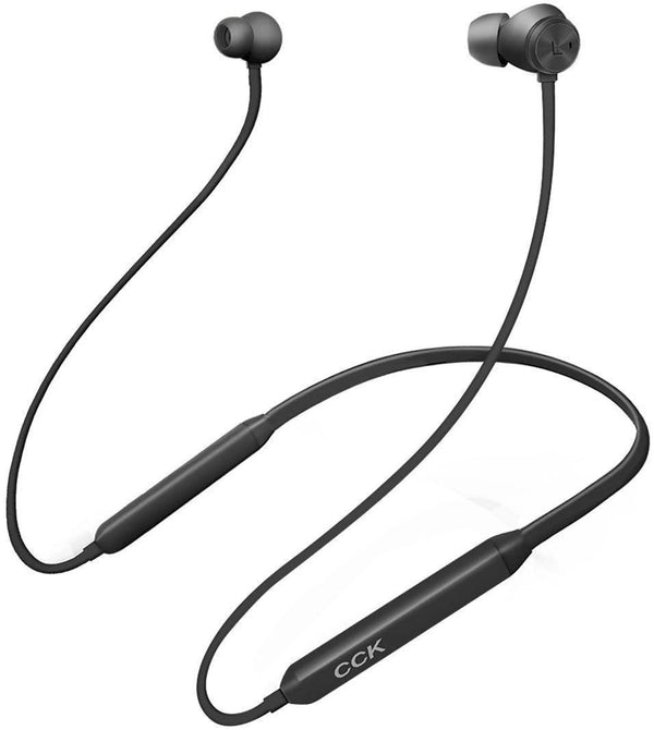 CCK Neckband Wireless Sports Best Running Hi-Fi Stereo Noise Cancelling Earphones-(Black) - DealsnLots