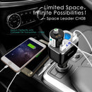 CHGeek Car Charger, 80W QC3.0 Dual Cigarette Lighter Splitter USB Power Socket  (Black)