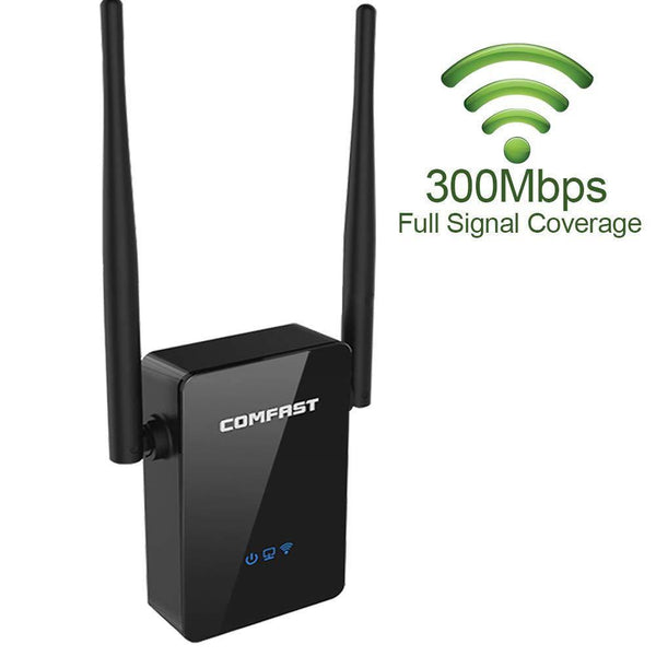 COMFAST Wi-Fi Range Extender, 300Mbps Wireless Signal Booster, WiFi Repeater Model: CF-WR302S (Black)