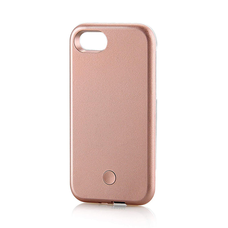 COSLIGHT LED Light Up Selfie Phone Case, For iPhone 6-6s -(Rose Gold)