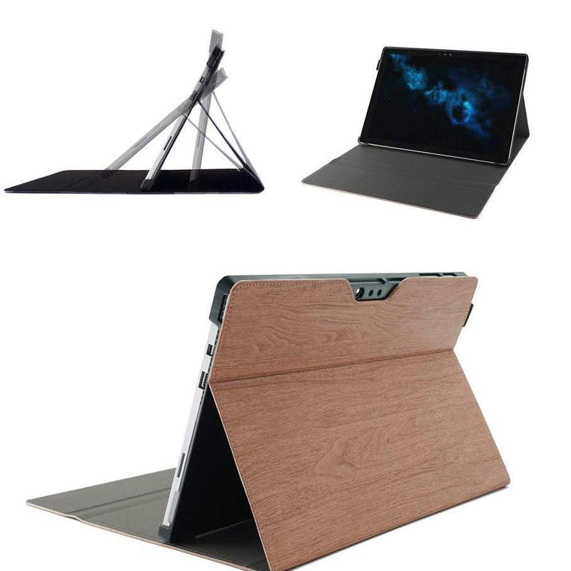 ChasBete Surface New Pro 4 Leather Folio Case - (wood)
