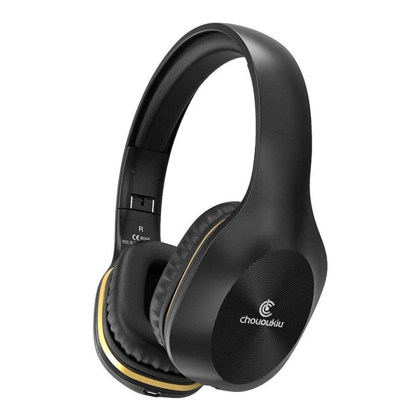 Chououkiu Wireless Bluetooth Over Ear Stereo Deep Bass Foldable Headphones-Model:A9-(Black)