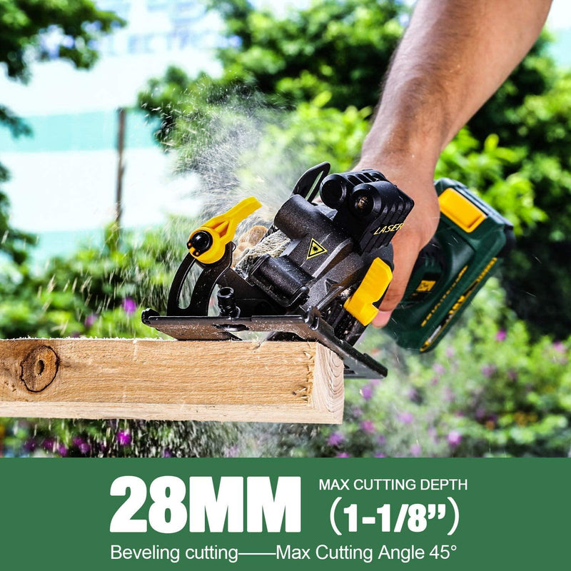 TECCPO Mini Circular Saw 18V Model: TDMS22P