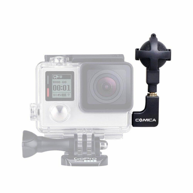 Commlite CVM-VG05 COMICA Video Microphone Black for GoPro Hero 3 3+ 4 Camera