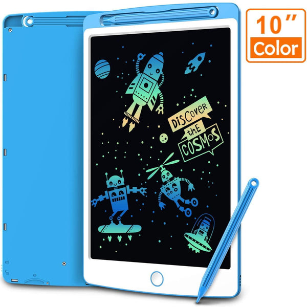 Coovee 10 Inch LCD Writing Tablet, Colorful Digital Ewriter- (Blue/White)