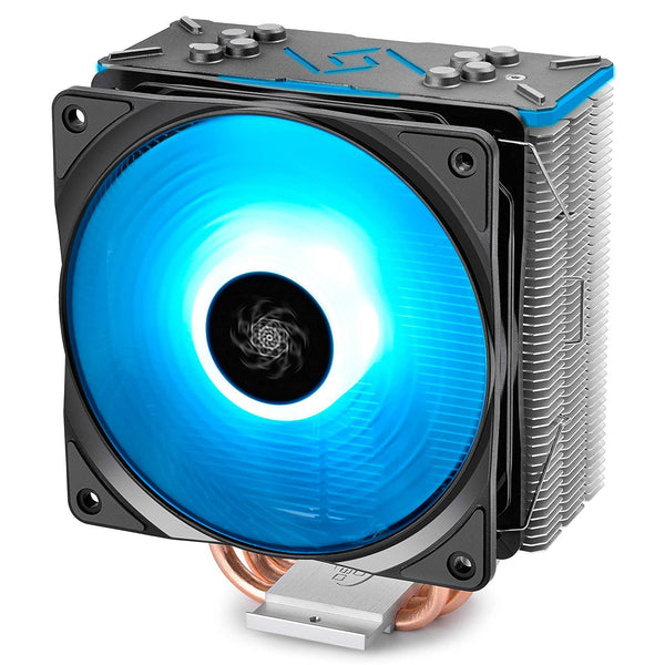 DEEPCOOL GAMMAXX GT BLK, CPU Air Cooler, SYNC RGB Fan and RGB Black Top Cover, Cable or Motherboard Control Supported (Black)