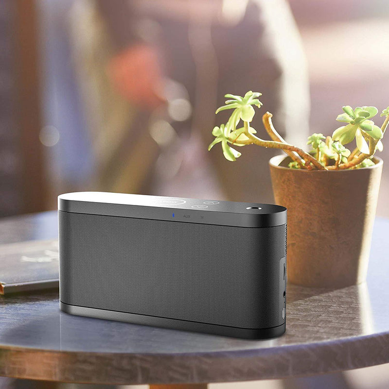 DOSS BoomBox Wireless Bluetooth V4.0 Speaker with 12W High-Definition Sound Quality & Superior bass,[Black]