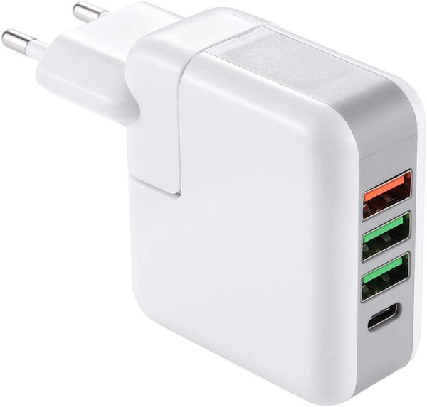 25W USB-C - Type-C Quick Charger Power Adapter Model:KP-4U (White) - DealsnLots