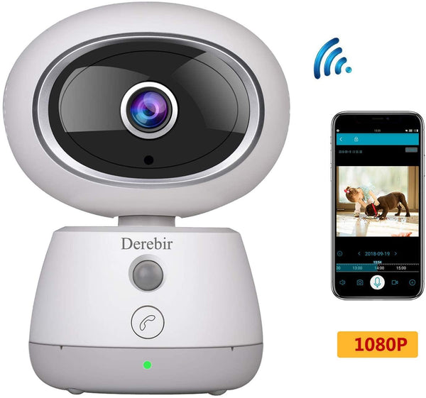 Derebir WiFi HD Wireless Camera with Night Vision Model: FV-EQI (White)