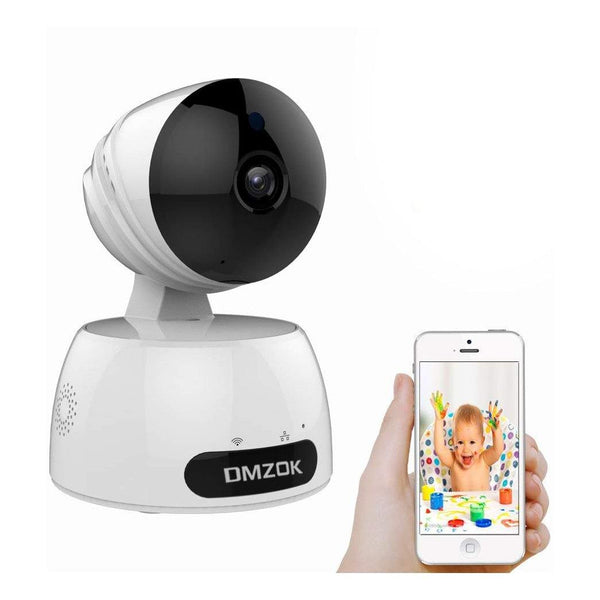 Dmzok WiFi camera, wireless security camera - (White)