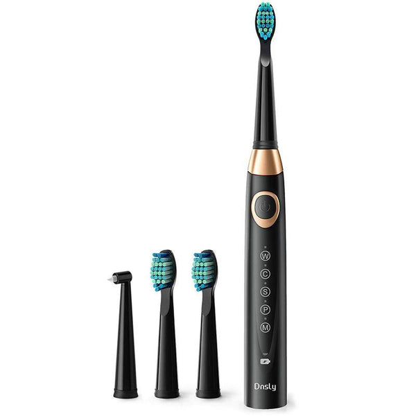 Dnsly Sonic Rechargeable Electric Toothbrush w/ Timer, 5 Modes